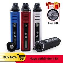 원래 휴고 증기 Pathfinder V2 II 2 건조 허브 왁스 기화기 키트 2200mAh 전자 담배 증기 펜 가변 온도 Vape 펜