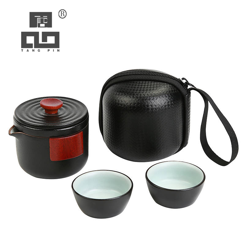 TANGPIN ceramic teapot with 2 cups for puer chinese kung fu tea pot portable tea set drinkware|Teaware Sets| |  - title=