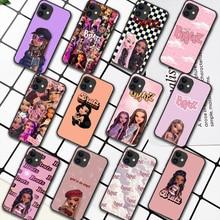 Fashion Brand Doll Bratsy Phone Case For iPhone 5 5S SE 2020 6 6S 7 8 Plus 11 12 Mini X XS XR Pro Max black Cover Tpu Hoesjes 3D