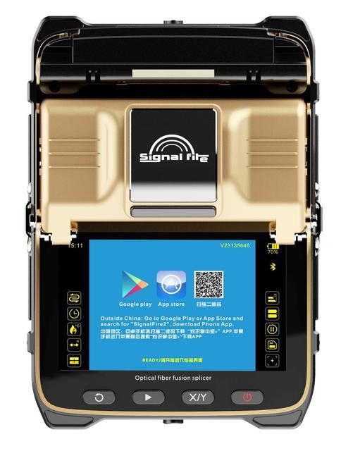 free shipping AI 8C Fiber Optical Fusion Splicer Fiber Optic SWITCH Welding Splicing Machine signalfire AI 8C FTTH Tool kit