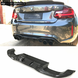 Image 1 - AK סגנון F87 M2 סיבי פחמן אחורי גוף ערכת פגוש שפתיים מפזר עבור BMW F87 M2 M2C 2014 2018 רכב סטיילינג