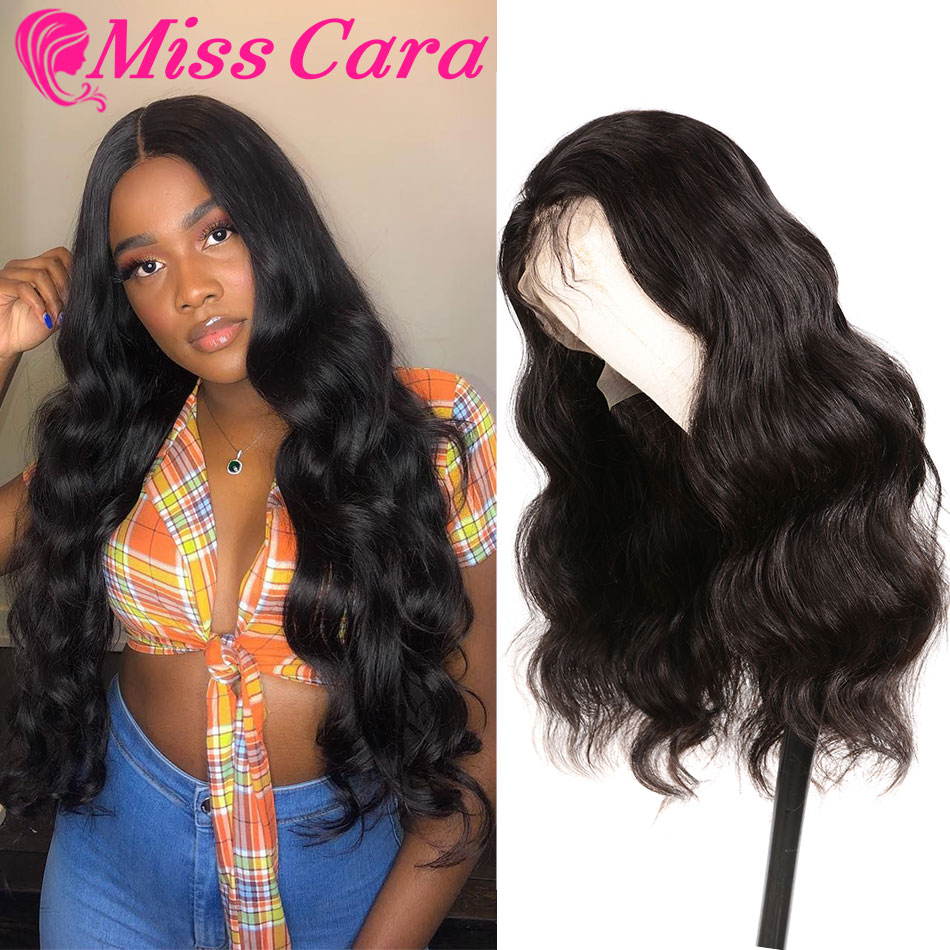 Peruvian Body Wave Human Hair Wigs 180% Density Pre-Plucked Lace Front Human Hair Wigs With Baby Hair Miss Cara Remy Hair Wigs