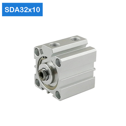 SDA32*10 32mm Bore 10mm Stroke Compact Air Cylinders SDA32X10 Dual Action Air Pneumatic Cylinder