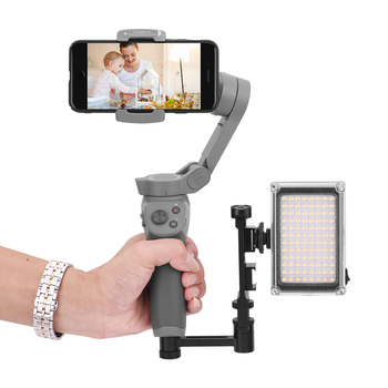 Protable Easy To Mount Phone Bracket Straight Extension Arm + Mount Bracket for DJI Osmo Mobile Handheld Gimbal Camera Accessory for dji osmo mobile 2 handheld gimbal adapter osmo mobile 1 mount holder action camera bracket 3d print for gopro hero 6 5 4 3