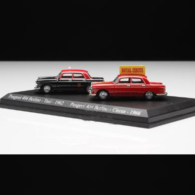 1/87 Scale Classic Alloy French Diecast Peugeot 404 Taxi Car Model Toys Children Gift Collection Desk Decorations Display