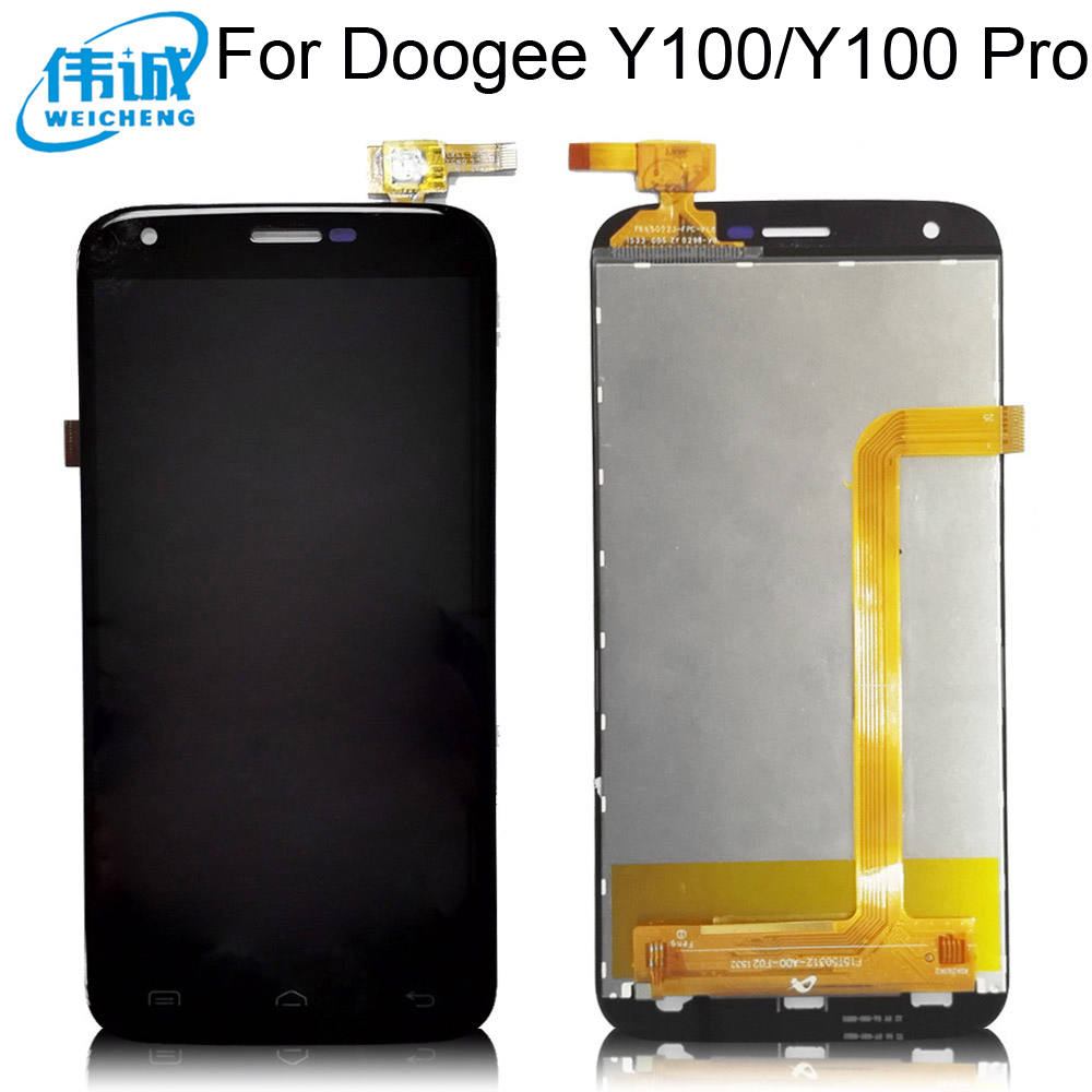 Top Quality For <font><b>DOOGEE</b></font> <font><b>Y100</b></font> <font><b>PRO</b></font> LCD Display + Touch Screen Assembly Replacement MTK6735 Quad Core 4G For <font><b>Doogee</b></font> <font><b>Valencia</b></font> <font><b>2</b></font> image