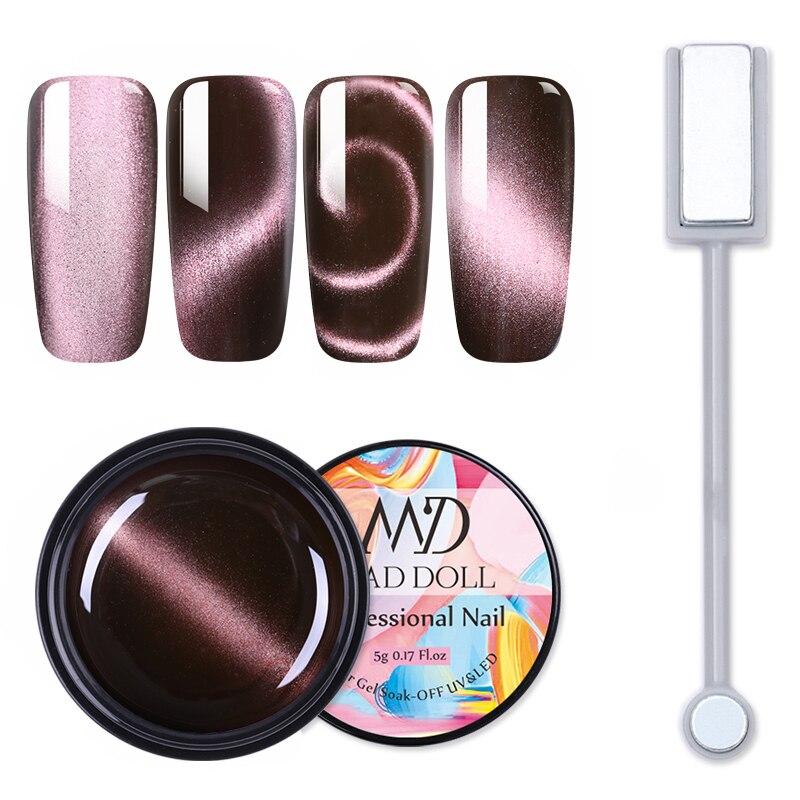 MD DOLL 5ml 5D Cat Eye Magnetic Nail Gel Polish Sparkly Sky Soak Off UV Magnet Gel Nail Art  Gel Varnish Varnish