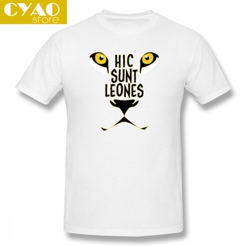 Hic Sunt Leones Here Be Dragons Lions Men's Basic Short Sleeve T-Shirt Many colors Casual Tops Tees image