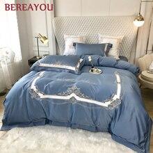 Cotton Bedding Sets Luxury Satin Hotel Bedset Red Wedding Bedding Princess Duvet Cover King Size Flat Bed Sheet ensemble literie