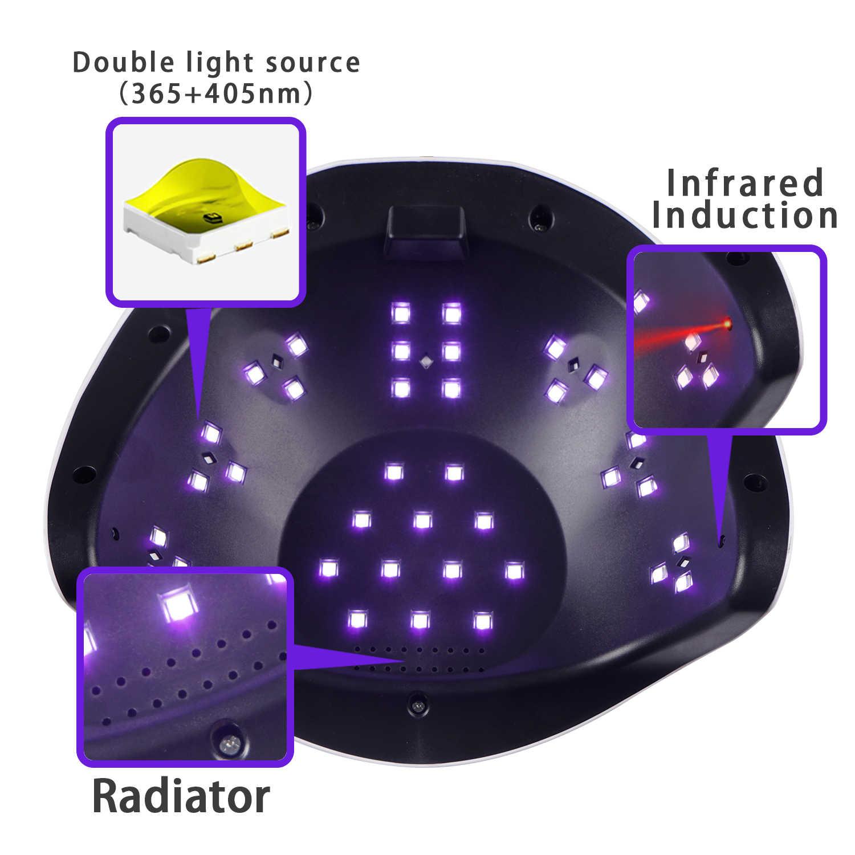 שמש BQ6T 72W UV LED מנורת לציפורניים מייבש ייבוש עבור מניקור ג 'ל מנורת ייבוש עבור ג' ל לכה LCD מסך נייל מייבש