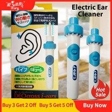 Ifory aspirador de pó portátil, máquina elétrica de limpeza auricular sem fio para limpeza de ouvidos, removedor seguro, cuidados de saúde indolor