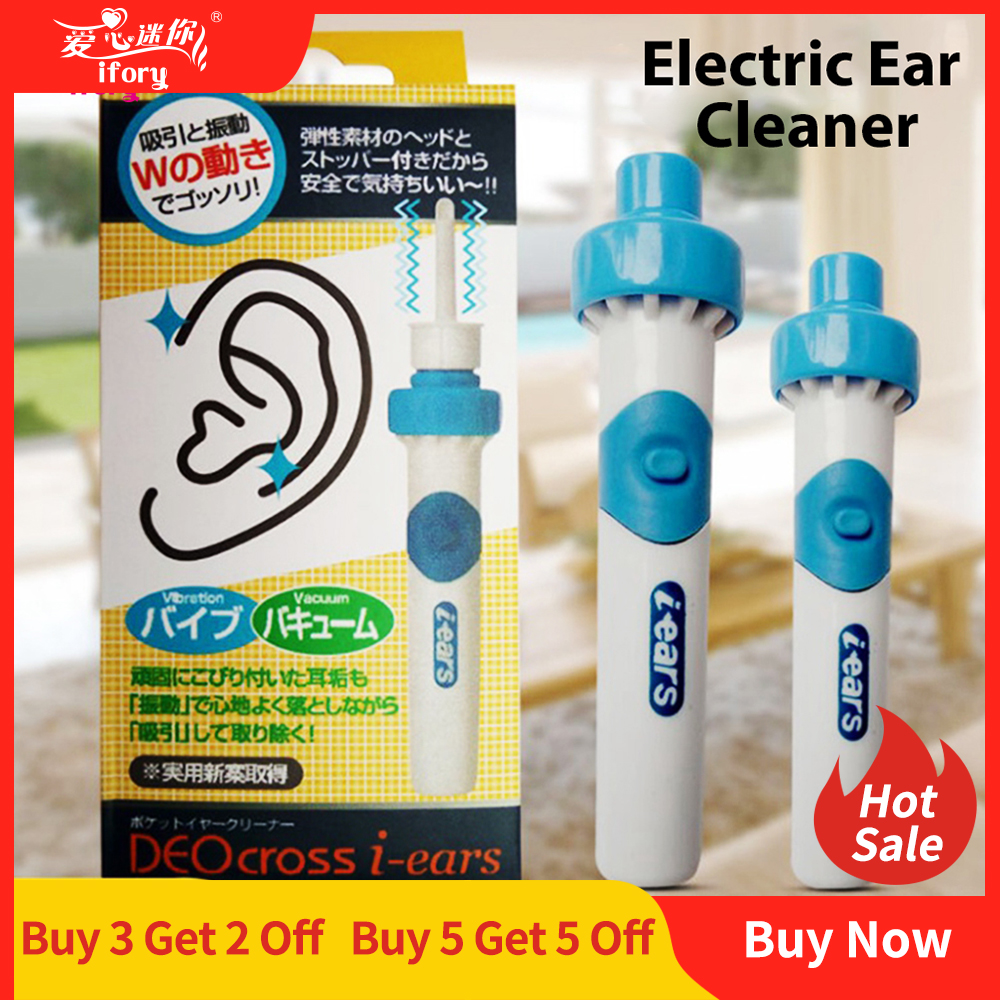 Ifory Protable Vacuum Ear Cleaner Machine Electric Cordless Ear Cleaner For Ear Safe Remover Cleaning Painless Health Care