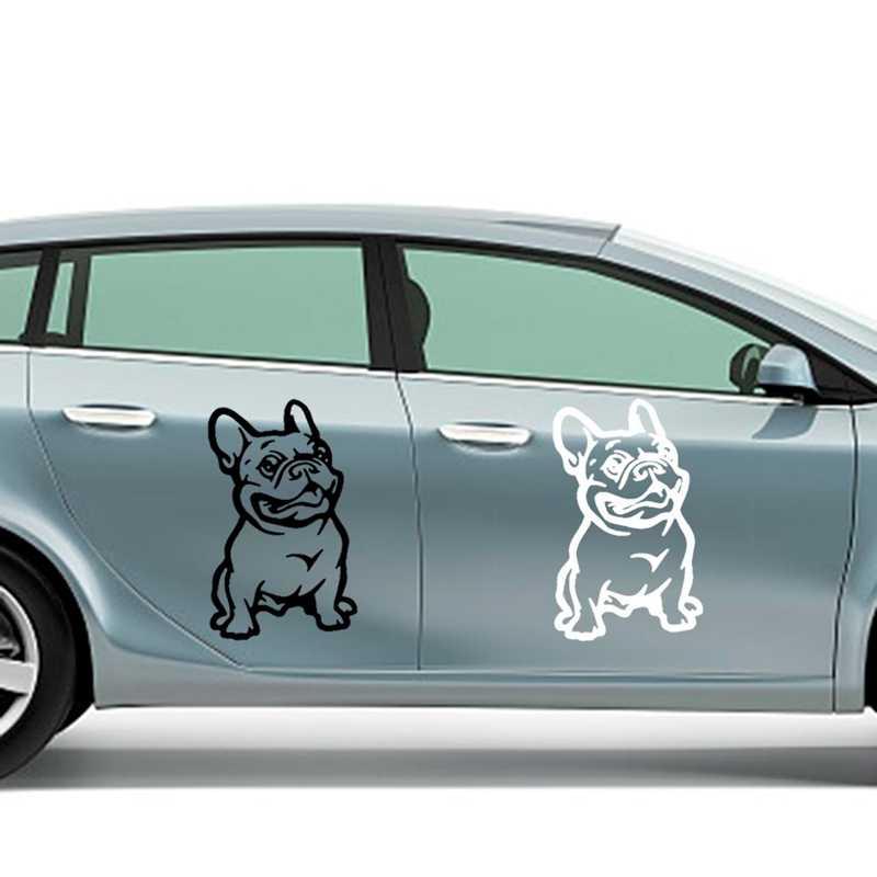 Французский бульдог стикер на машину с собакой PET наклейка на авто всепогодный Авто Стайлинг Мультяшные автомобильные наклейки автомобильные аксессуары