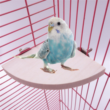 Toy Platform Stand-Rack Branch-Perches Bird-Cage Pet-Bird Parrot Wood 3-Sizes 1pc Hamster