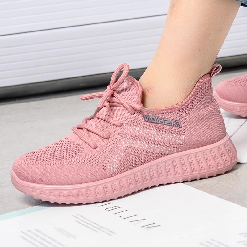 Women Casual Summer Autumn Sneakers Sport Shoes Ladies Casual Walking Vulcanized Sneakers Shoes 2020 Fashion Sock Sneakers Slip
