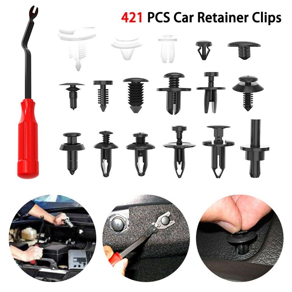 350X Car Body Panel Door Push Retainer Pin Rivet Fasteners Trim Clip Assortments