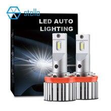 스텔라 H11 H7 LED canbus H8 HB4 오류 없음 헤드 라이트 안개 조명 H1 H4 9005 9006 자동 12V 자동차 전구에 대 한 LED 다이오드 램프 작은 크기