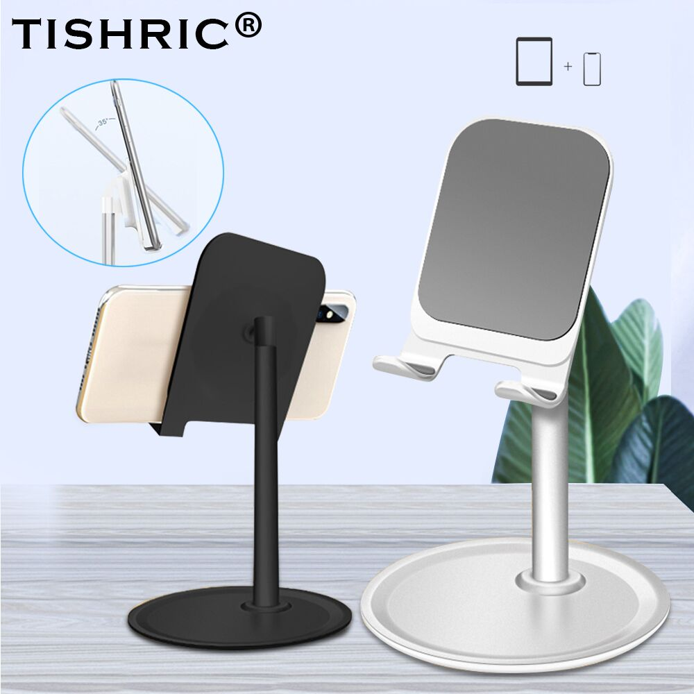TISHRIC Universial Flexible Moile Desk Stand Holder For Iphone/Samsung/Xiaomi/Tablet/Phone Support Desktop Metal Alloy Alumium