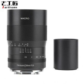 7artisans 60mm F2.8 APS-C lente Macro de enfoque Manual para Sony E para Canon EF-M/RF para Fuji FX para Nikon Z montaje para montura M4/3