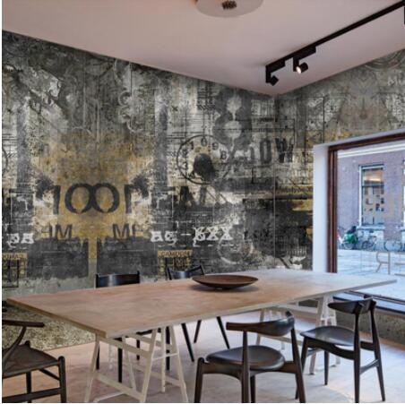 European Retro Style Old Wall Graffiti Photo Mural Wall Paper For Living Room Bedroom Restaurant Decor Custom Size 3D Wallpaper