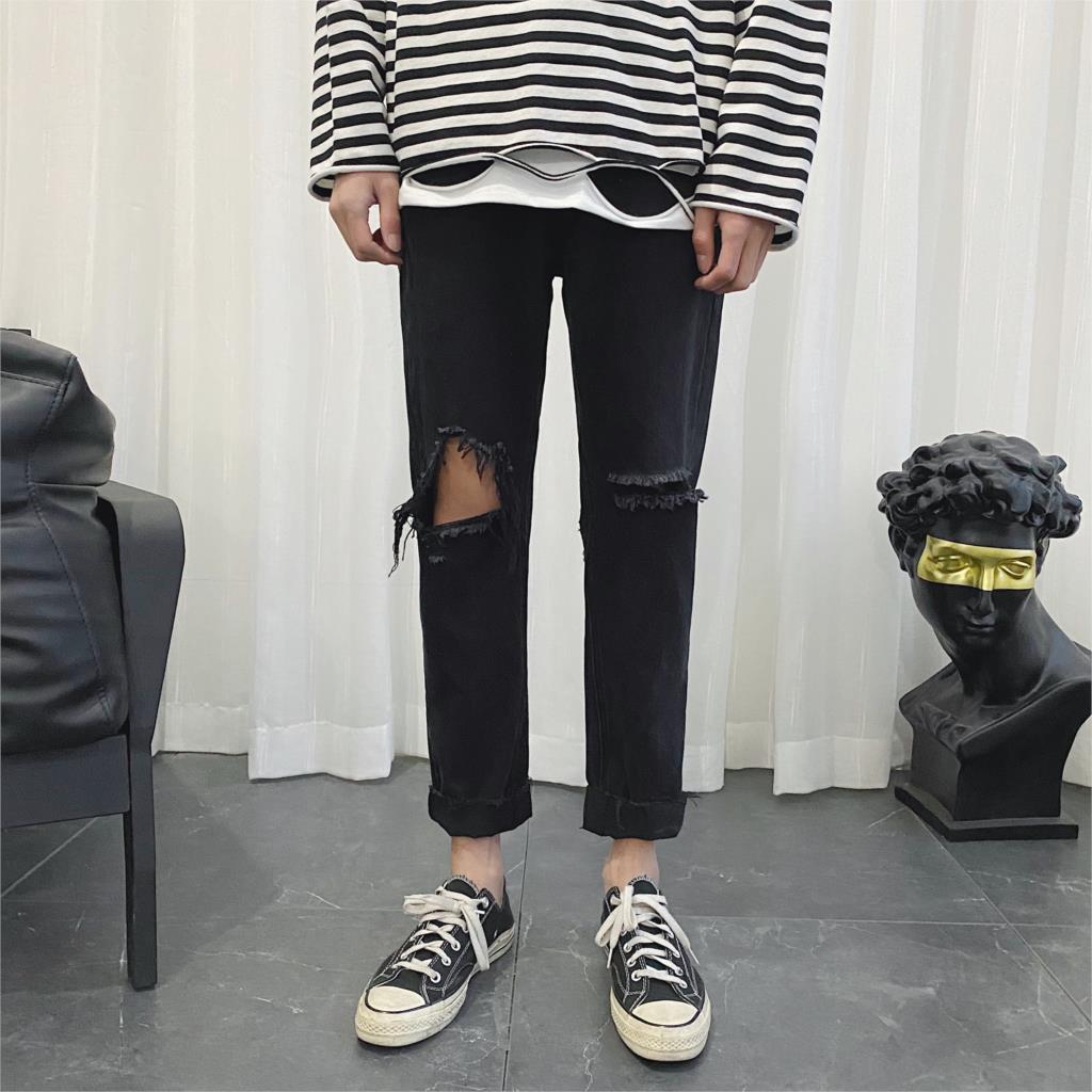 Privathinker Hip Hop Slim Fashion Men's Jeans 2020 Spring Black Solid Pants Man Casual Hip Hop Vintage Denim Pants 3XL Spring