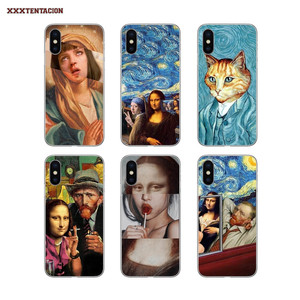 Covers Mona Lisa Funny Spoof Art For Samsung Galaxy A3 A5 A7 A750 2016 2017 A10 A30 A40 A50 A70 A6 A8 Plus A9 Star Lite J8 2018
