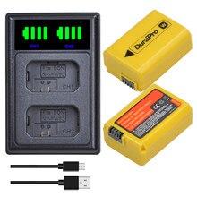 Batterie Li-ion NP FW50 2x2160mAh, avec chargeur LED, pour appareil photo Sony A6000 A5000, Alpha 7R II