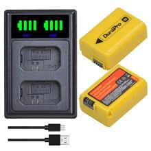 2x2160 мА/ч np fw50 li ion Батарея + led Зарядное устройство