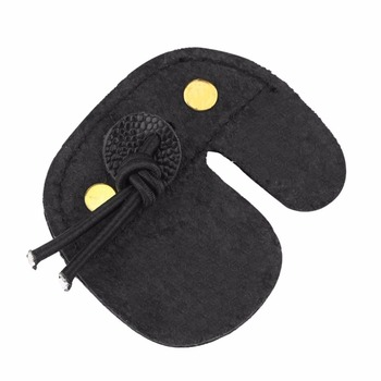 Archery Finger Guard Protection Pad Glove Tab Bow Arrow Cow Leather Hunting Shooting Protector Sports 3