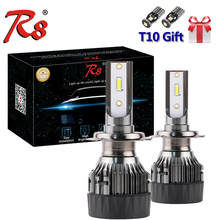 цена на R8 M3 Car LED Headlight H7 H4 LED H8/H11 HB3/9005 HB4/9006 H1 9012 880 5202 881 H27 72W 8000LM Auto Bulb Head Lamp 6000K Light
