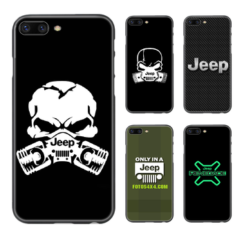 Jeep car Phone Case Cover Hull For iphone 5 5s se 2 6 6s 7 8 plus X XS XR 11 PRO MAX black hoesjes silicone Etui painting image