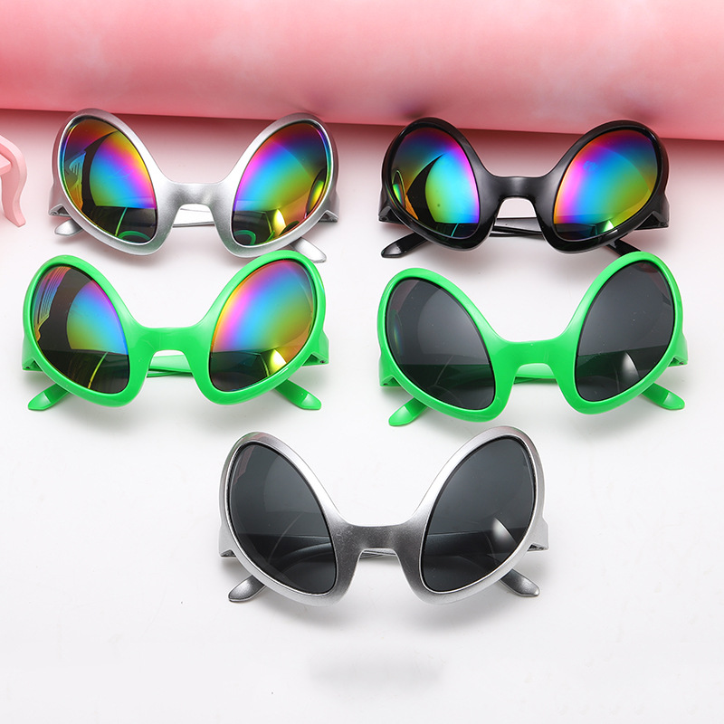 Alien Glasses Prom Glasses Funny Props Party Holiday Party Supplies Green Alien Modeling Prop Strange Shape Glasses