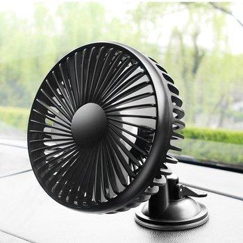 Car Universal Fan 12V/24V General Motors Small Electric Fan Big Truck Single Head Shake Head USB Fan with Sucker фото