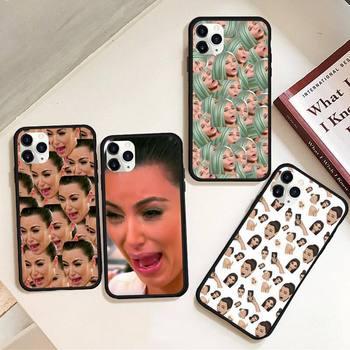 Kimoji Kim Kardashian kylie jenner custodia per telefono in gomma per iPhone 12 pro max mini 11 pro XS MAX 8 7 6 6S Plus X 5s SE 2020 XR custodia