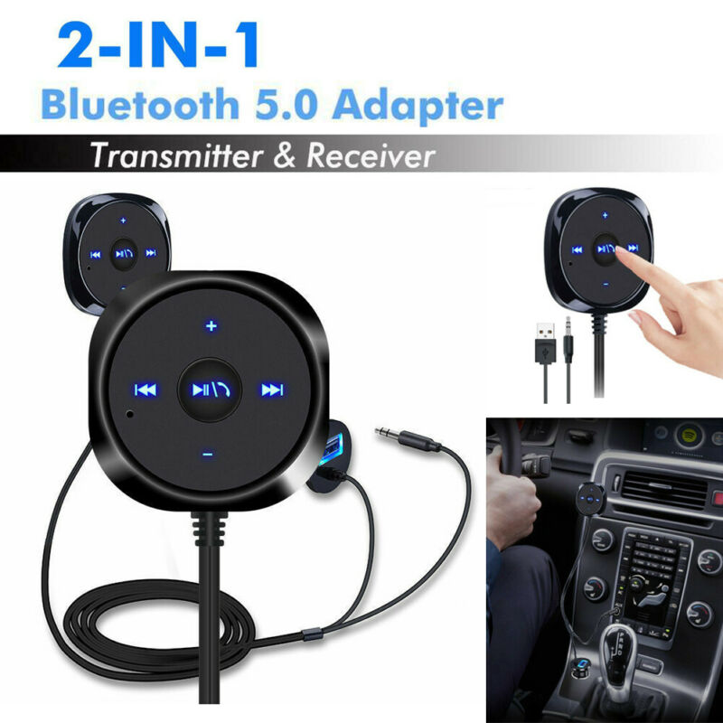 New AUX-in Bluetooth 5.0 Wireless Receiver Transmitter Adapter Dongle for Car Stereo Audio Speaker
