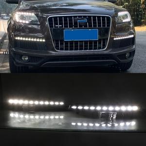 Image 5 - Car Flashing 1 Pair LED DRL Dynamic Yellow Turn Signal Daytime Running Light Fog Lamp For Audi Q7 2010 2011 2012 2013 2014 2015