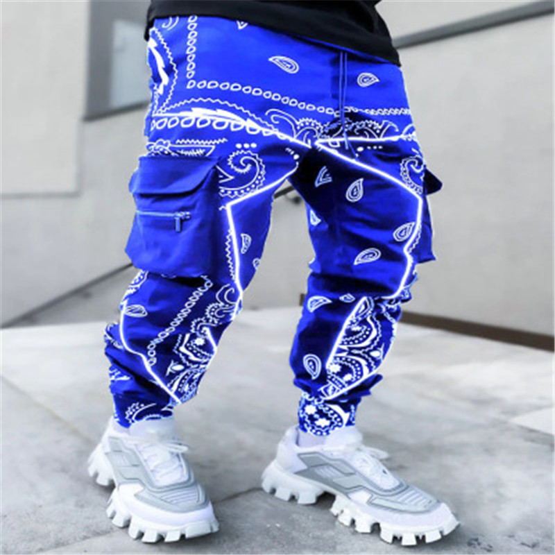 2021 hot printing cashew spend leisure sports haroun pants men more than Europe and the United States relaxed high street bag ov