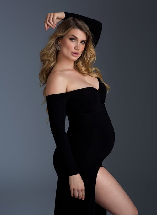Shoulderless Maternity Dresses Photography Props Sexy Split Side Maxi Gown For Pregnant Women Long Pregnancy Dress Photo Shoots (3)