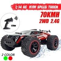 1:14 70 km/h 2wd rc controle remoto fora da estrada carros de corrida veículo 2.4 ghz crawlers caminhão monstro elétrico rc|Carros RC|Brinquedos e hobbies -