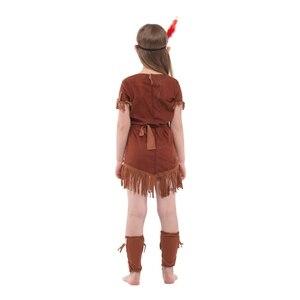 Image 5 - Kind Kinder Indische Prinzessin Kostüm für Mädchen Native Archer Huntress Kostüme Halloween Purim Karneval Party Phantasie Kleid