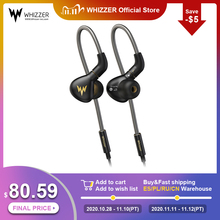 Whizzer A15 برو HIFI سماعة 1DD الهجين IEM التكنولوجيا في الأذن أنواع مع MMCX استبدال كابل تصميم مقشر سبائك الألومنيوم