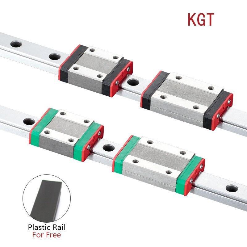 KGT 3D принтер MGN12C MGN12H L = 100 350 400 500 600 800 900 1000 мм миниатюрная линейная направляющая 1 шт. MGN линейная направляющая MGN каретки
