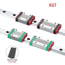 KGT Impressora 3D MGN12C MGN12H L = 100 350 400 500 600 800 900 1000 milímetros em miniatura trilho deslizante linear 1pcs MGN linear transporte guia MGN