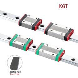 KGT 3D Printer MGN12C MGN12H L=100 350 400 500 600 800 900 1000mm miniature linear rail slide 1pcs MGN linear guide MGN carriage