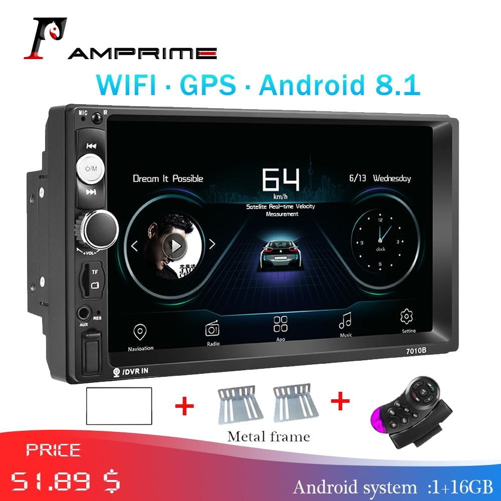 AMPrime 2 Din Car Radio Android Car Multimedia GPS Navigation Wifi Autoradio Bluetooth MP5 Stereo FM Audio For Kia Backup Camera