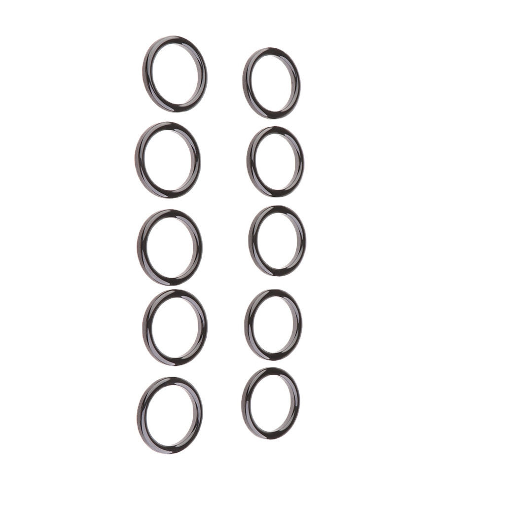 10PCS Black Fishing Rod Top Tip Ceramic Rings Guides Eyes Ring Sets Fish Pole Repair Replacement Parts 30mm
