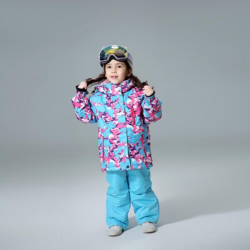 Waterproof Kids Ski Suits Super Warm 2018 Winter Outdoor Sport Jacket Skiing And Snowboarding Suit Snow Jacket For Girls Brands