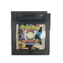 Série pokemon ndsl gb gbc gba negociação jogo de cartas 2 jogo de vídeo cartucho console cartão clássico versão colorida língua inglês