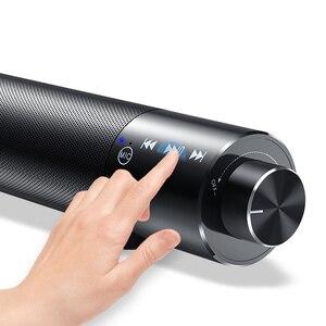 Image 2 - Nova barra de som portátil bluetooth, alto falante, sem fio, subwoofer, som dual, aux/tf, barra de som, estéreo para pc e tv
