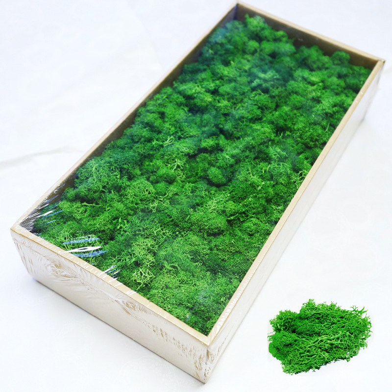 High Quality Artificial Moss Wall Green Plant Fake Grass Wall Living Room Decorative Wall Green Wall Artificial Flame